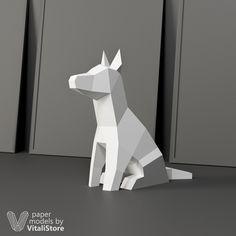 Dog Papercraft #papercraft #dog #wolf #vitalistore #diy