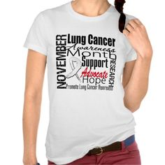 November is Lung Cancer Awareness Month. Lung Cancer Awareness Month T-shirts #lungcancer #lungcancerawareness #lungcancermonth