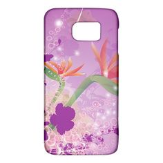Wonderful+Flowers+On+Soft+Purple+Background+Galaxy+S6+Samsung+Galaxy+S6+Hardshell+Case+