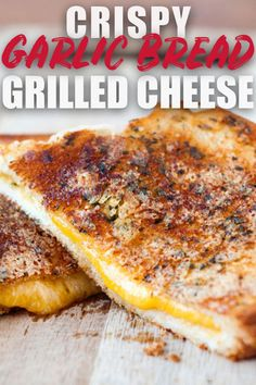 These garlic parmesan crusted grilled cheese sandwiches are what dreams are made of! This recipe turns an easy, classic sandwich into the best gourmet grilled cheese! via @heatherlikesfood