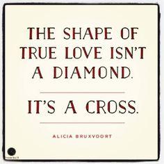 Love is shaped like a cross