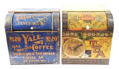LOT OF 2: LARGE COUNTRY STORE TINS.