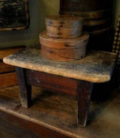 Old Worn Stool & Pantry Boxes...****