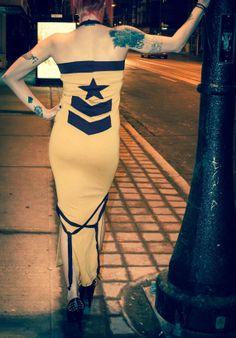 Long Stars & Chevron Dress by Messinasalter on Etsy, $79.00 Chevron Dress, Strapless Dress, Burgundy, Stars, Cotton, How To Wear, Etsy, Clothes, Dresses