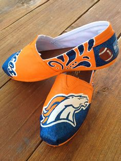 Denver Broncos Painted Custom TOMS. Only way I would wear Toms
