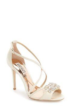 Badgley Mischka Badgley Mischka 'Gala' Crystal Embellished Evening Sandal (Women) available at #Nordstrom
