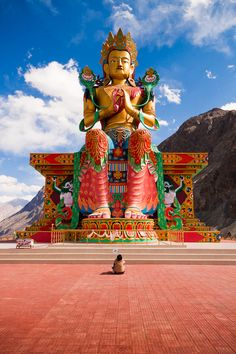 Diskit Monastery, Ladakh, India Also visit http://www.totalstylish.com/2014/06/9-best-tourist-places-to-visit-in-jammu.html
