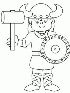 kid viking coloring page