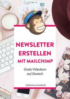 Du suchst eine Mailchimp-Anleitung auf Deutsch? Hier findest du ein gratis Videotutorial zu Mailchimp! Email Marketing Strategy, Affiliate Marketing, E-mail Marketing, Online Marketing, Email Marketing Design, Marketing Software, Facebook Marketing, Business Marketing, Content Marketing