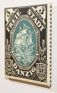 Items similar to Hanseatic Trading Ship from Danzig - 1921 Postage Stamp Enlarged on Canvas to x 8 inches on Etsy Danzig, Postage Stamps, Archaeology, Ship, History, Canvas, Unique Jewelry, Handmade Gifts, Etsy