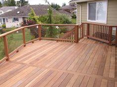 Glass Railing for Decks and Porches Deck Railing Design, Wood Railing, Stair Handrail, Glass Railing, Deck Railings, Outdoor Railings, Railing Ideas, Back Garden Landscaping, Backyard Patio