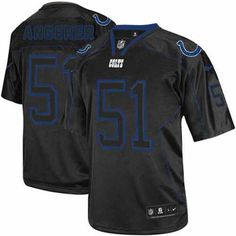 $79.99 Nike Game Men's Indianapolis Colts #51 Pat Angerer Lights Out Black NFL Jersey