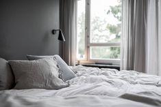 Bedroom in dark grey