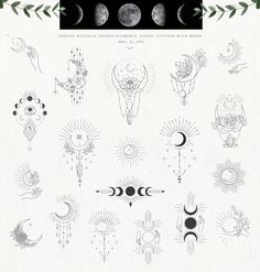 by Designwork on Here is a new trendy big collection in line art with over, than 215 unique Hand Drawn Floral Design Elements and ready designs with they and Line Art Tattoos, Dog Tattoos, Mini Tattoos, Tattoo Drawings, Small Tattoos, Sleeve Tattoos, Tattoo Sketches, Beste Freundin Tattoo, Freundin Tattoos