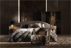 Arise refreshed in the Sharpei bed from the Roberto Cavalli Home Interior's Iconic Collection stocked by Kings of Chelsea kofc.co.uk