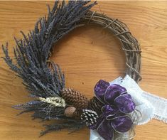 Lavender Crafts, Grapevine Wreath, Grape Vines, Wreaths, How To Make, Beautiful, Home Decor, Door Wreaths, Deco Mesh Wreaths