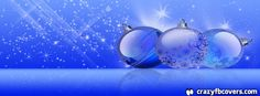 Blue Christmas Ornaments Facebook Cover Facebook Timeline Cover
