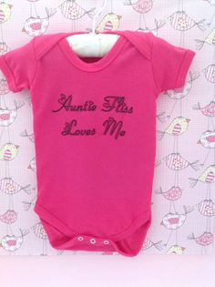 Beautiful personalised baby vest/ funky baby clothing