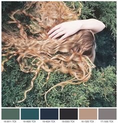 love this color pallet. looks like my hair too.