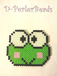 Keroppi Frog Necklace Perler Bead Sprite