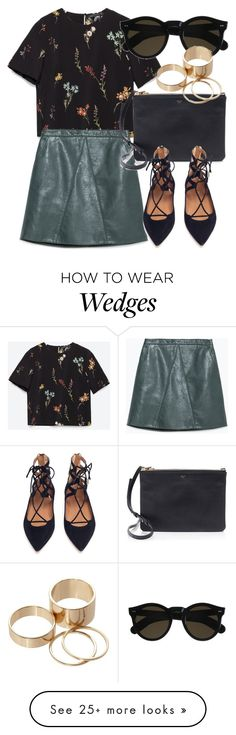 """Untitled #4951"" by laurenmboot on Polyvore featuring Zara, CÉLINE, Aquazzura, Beau Coops and Call it SPRING"