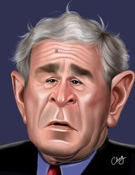 caricatures of george w bush - Google Search