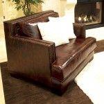 $989.99 Elements Fine Home Furnishings - Emerson Top Grain Leather Club Chair - EME-SC-SADD-1-NH025