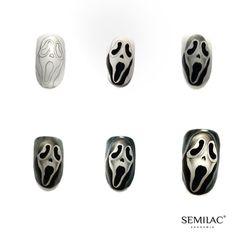 10 Impressive Nails Design For The Halloween Fanatic Nail Line Disney Halloween Nails, Halloween Nail Colors, Halloween Nail Designs, Disney Nails, Food Nail Art, Gel Nail Art, Nail Art Diy, Scary Nails, Pumpkin Nail Art