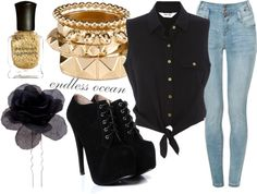 """black"" by endless-ocean ❤ liked on Polyvore"