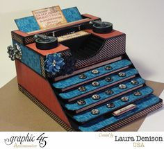 Typography altered typewriter by the amazing Laura Denison! #graphic45