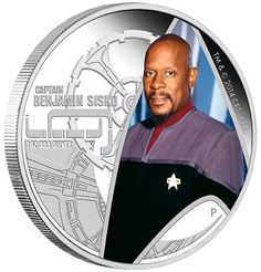 Star Trek: Deep Space Nine – Captain Benjamin Sisko 2015 Silver Proof Coin Official Licensed Product Proof Quality Pure Silver Iconic Star Trek Design Issue Limit – Themed Presentation Packaging Numbered Certificate Scotty Star Trek, New Star Trek, Silver Coins For Sale, Gold Coins, Avery Brooks, Deep Space Nine, Utopian Society, Star Trek Captains, Video Clips