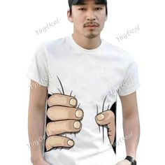 Big Hand Palm Wrap Waist Cotton Short Sleeve T-Shirts for Men DCD-300707  http://www.tinydeal.com/index.php?main_page=index&cPath=865&sk=22126987pv