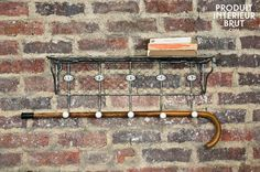 Wire mesh shelf with numbered hooks,Decorative accessories,Produit,intérieur,brut,produitinterieurbrut,Wire mesh shelf with numbered hooks and others coat racks & stands to discover at PIB, the specialist in vintage furniture, lighting and decorating style.