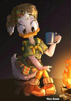 Coffee time every time ~. Walt Disney, Disney Duck, Disney Family, Disney Mickey, Disney Art, Disney Pixar, Minnie Mouse, Mickey Mouse And Friends, Disney Dream