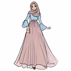 Fashion Design Drawings Hijab 24 New Ideas – Hijab Fashion 2020 Fashion Model Drawing, Fashion Drawing Dresses, Fashion Illustration Dresses, Fashion Design Drawings, Fashion Sketches, Fashion Dresses, Hijab Fashion, Fashion Art, Trendy Fashion