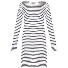 NLST Sailor striped sweater dress (3.143.790 IDR) ❤ liked on Polyvore featuring dresses, navy white, navy blue dress, long sleeve striped dress, white dress, knit dress and striped sweater dress