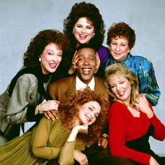 """The whole cast of """"Designing Women"""".including Anthony and Bernice. Love this show. Still watch it sometimes. I think Julia and Suzanne Sugarbaker rock! Too many favorite epsidodes to list. Dixie Carter, Jean Smart, Delta Burke, Old Shows, Great Tv Shows, Classic Tv, Classic Movies, The Good Old Days, Designing Women"""