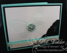 """Honeycomb Hello (Butterflies Thinlits, Watercolor Paper, Coaster Board, Brayer, Crease Pads, Best Year Ever Accessory Pack, Venetian Crochet Trim, 3/4"""" Circle punch, Something Borrowed Embellishments - Butterflies Thinlit Impression Technique)"""