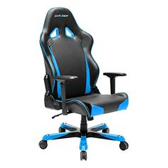 DXRacer Tank Series Racing Bucket Seat Office Chair Gaming Ergonomic with Lumbar Support (Blue) Blue Velvet Dining Chairs, Metal Dining Chairs, Side Chairs, Ergonomic Computer Chair, Ergonomic Chair, Pc Gaming Chair, Hanging Chair From Ceiling, Toddler Table And Chairs, Chairs For Rent