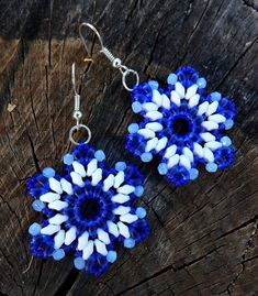 Free pattern for earrings Indigo | Beads Magic