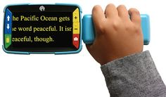 Video Mag HD handheld video magnifier, partnership between APH and Freedom Scientific to create this kid-friendly magnifier. Video Mag HD provides sharp images on its full-color, 4.3-inch LCD screen. It supports five default color modes and 15 additional contrasting color modes. This magnifier has a fold-away handle that has been ergonomically designed to fit the smaller hands of students. Press the magnification buttons for continuous zoom up to 13x.