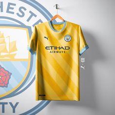Best Puima Manchester City Away Kiit Concepts Sport Shirt Design, Sports Jersey Design, Sports Graphic Design, Football Design, Manchester City, Soccer Kits, Football Kits, Soccer Outfits, Sport Outfits
