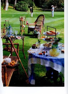 crochet & afternoon tea on the lawn