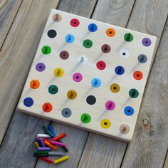 Kolíková deska - 18 barev / Zboží prodejce Hravokádo | Fler.cz Triangle, Games, Gaming, Plays, Game, Toys