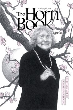"Brian Selznick's special ""Horn Book"" cover portrait of 2010-2011 National Ambassador for Young People's Literature Katherine Paterson."