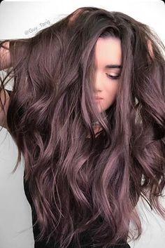 Brown amethyst dark chocolate brown hair with a lilac purple undertone