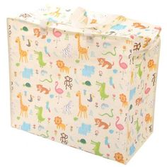 Fun Practical Laundry & Storage Bag - Zoo Design Need a handy, durable storage and laundry bag that is practical, strong and looks great? Then loo Large Storage Bags, Food Storage Boxes, Bag Storage, Ski Design, Childrens Toy Storage, Plastic Carrier Bags, Kids Zoo, Washing Basket, Laundry Supplies