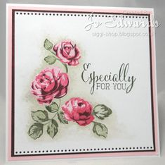 vintage roses. used pastel beige & satin promarkers to colour around the stamped images.