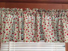 Hey, I found this really awesome Etsy listing at https://www.etsy.com/listing/286844779/teal-green-with-cherries-window-valance