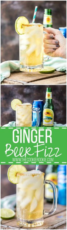 Ginger Beer Fizz is a refreshing and easy cocktail recipe perfect for any occasion. My husband loves this drink! ONLY THREE INGREDIENTS!